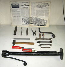 ALFA ROMEO GIULIETTA 750/101 ORIGINAL AND USED TOOL KIT WITHOUT POUNCH (79)