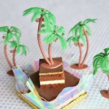 "Set of 8 Palm Tree with Coconuts 3"" Tall Cake Topper"