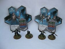 Heroscape Rise of the Valkyrie Agent Carr Krav Maga Agents w/2 Cards New Cond.