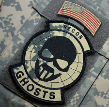 KANDAHAR WHACKER JSOC MARSOC RAIDERS FORECON SP OPS SSI: RECON GHOST + US FLAG