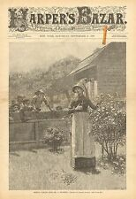 Missus, Please Give Me A Flower, by Alfred Kappes Vintage 1890 Antique Art Print