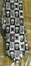 Halloween Skull Tie - Novelty Spider Tie - Fancy Dress -Web  - Gothic -Halloween