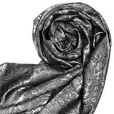 78058 LORENZO CANA Damenpashmina Schal Tuch Seide Seidentuch Silber Grau Paisley