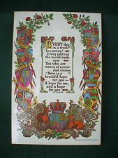 Vintage inspirational  Poem on board polyurethane by  alvoeiro evangelic cards