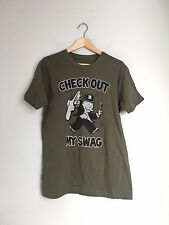 TRUE VINTAGE Men's Monopoly Swag Short Sleeve Sports T-Shirt Top L Olive Green