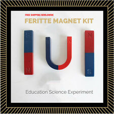 FERRITE MAGNET KIT for Education Science Experiment Teaching U Horse-shoe / Bar