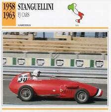 1958-1963 STANGUELLINI FJ Racing Classic Car Photo/Info Maxi Card