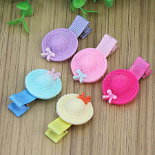 5pcs Cute Plastic Hat Hair Pin Clips Hairpin For Girls Children Kids Baby Gift