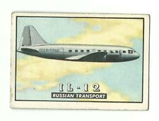 1952 Topps WINGS IL-12 Russian Transport Airplane Aviation Friend Or Foe #42