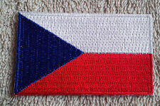 CZECH REPUBLIC FLAG PATCH Embroidered Badge Iron Sew 4.5cm x 6cm Česká republika