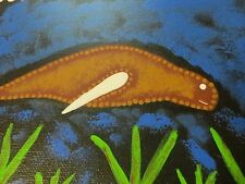 RARE Original Dugong Painting by Australian Aboriginal Artist Greg Assan Signed