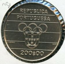 PORTUGAL 1991   200  ESCUDOS   KM-658    C0IN YOU DO THE GRADING HAVE FUN