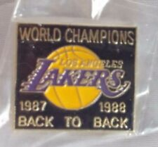 Los Angeles Lakers 1987-1988 Back To Back World Champions Pin Pinback Souvenir