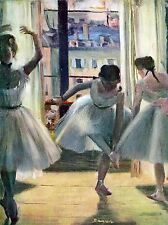 EDGAR DEGAS THREE DANCERS IN A PRACTICE ROOM OLD MASTER PAINTING PRINT 781OMLV