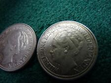 1941 (2 coins) Netherlands silver 25 Cents