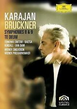 Karajan: Bruckner - Symphonies 8 and 9/Te Deum DVD NEW