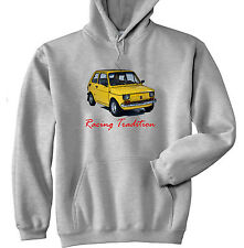 MALUCH POLISH FIAT 126 P RACING TRADITION - GREY HOODIE - ALL SIZES IN STOCK