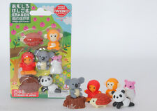 IWAKO Novelty Japanese Puzzle Eraser Rubber - IWAKO Forest Animal Eraser Set