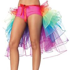 New Vivid Rainbow Partly Bustle Ballet Dance Ruffle Belt Skirt Party Fancy Dres