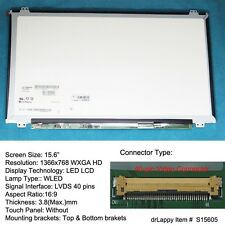 "15.6"" Slim Glossy WXGA HD LED LCD Screen for HP ENVY 15-k005tx 15-k073ca"