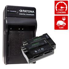 x2 Batterie piu carica per nikon d80 nikon d90 d100 2000 mah enel3e en-el3e