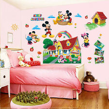 Mickey Minnie Mouse Clubhouse 3D Wall Sticker PVC Mural Decal Kids Nursery Decor