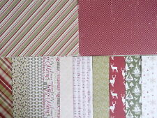 "Sample pack - Glad Tidings Christmas 6x6"" scrapbook backing papers x 12"