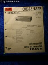 Sony Service Manual CDX 65 / 65RF CD Changer (#3488)