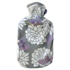 Fashy Hot Water Bottle with Water Lily Fuzzy Cover 2L Water Bottle