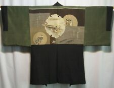 """The Journey"" Vintage Japanese Men's Silk Haori Jacket for Kimono Collectible"