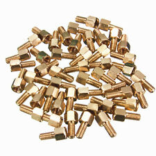 50Pcs Brass Standoff Hexagonal Net Spacer Screw Nut Female M3 4+6mm For PC Board