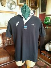 COTTON Traders NEW ZEALAND tutti neri Kiwi's S / Manica Rugby Camicia jersey.large