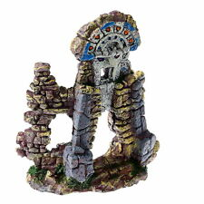 Ancient Totem Remains Aquarium Ornament decoration fish tank Architecture wall