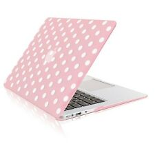 "Polka Dot PINK Ultra Slim Matte Hard Case for Macbook Air 13"" A1369 & A1466"