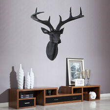 "US Wall Charmers Black Stags Fake Deer Head W Antler Home Decro--12.6""W X 14.6""H"