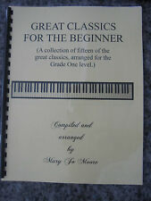 Mary Jo Moore Piano/Great Classics for the Beginner/homeschool friendly