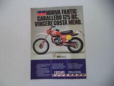 advertising Pubblicità 1979 MOTO FANTIC CABALLERO 125 RC