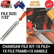 """CHAINSAW CHAIN SHARPENING KIT WITH 7/32"""" 5.5MM ROUND FILE WITH GUIDE & HANDLE"""