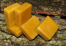 3 Pure 100% ORGANIC Natural Beeswax Blocks approx 22 grams each