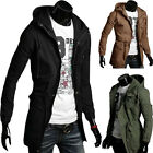 2015 New Mens Men Casual Jacket Military Jacket Long Sexy Slim Fit Outwear Coats