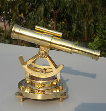 Vintage Brass Theodolite Alidade Telescope Compass Instrument Christmas Gift