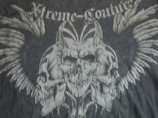 Xtreme Couture Hardcore Death Metal Bones T Shirt Men's Size L