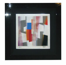 """AGAM Original Color Agamograph """"Mobility In Time"""" - S/N - Attractively Framed"""