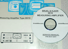 Bruel & Kjaer 2610 Measuring Amplifier,Service Manual w/Schematics