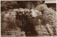 FELIXSTOWE - Dripping Well - Spa Gardens -  c1930s era Real Photo postcard