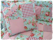 LOVELY Realizzata a Mano Cath Kidston IKEA tessuti COT QUILT, PARAURTI SET 4PZ IN BABY BEDDING