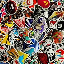 80 mix skateboard stickers laptoped snowboard car surf bicycle vinyl decal !