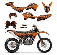 KTM EXC XCF 125 250 300 450 530 graphics kit 2008 2009 2010 2011  NO3333 Orange