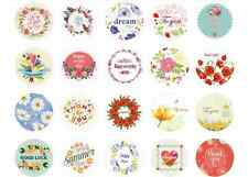 2x38 Assorted Flower Stickers Card making Scrapbooking Craft Arts Gift tag label