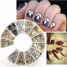 3D Nail art Carrousel Or /Argent Décoration pour ongles 300 pcs 005